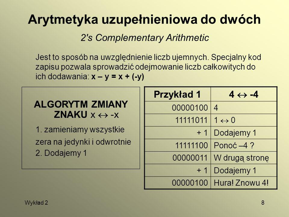 Arytmetyka uzupełnieniowa do dwóch 2 s Complementary Arithmetic