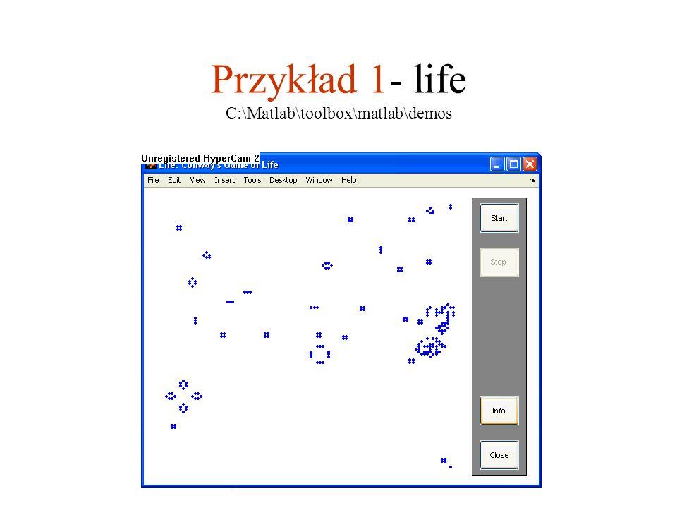 Przykład 1- life C:\Matlab\toolbox\matlab\demos