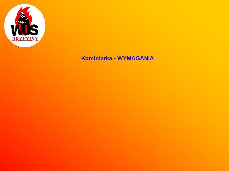 Kominiarka - WYMAGANIA