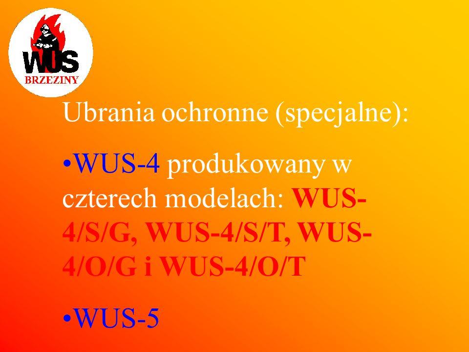 Ubrania ochronne (specjalne):