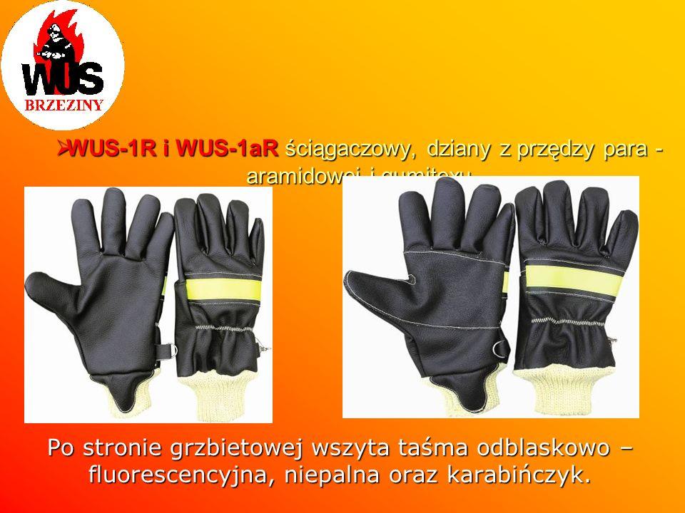 WUS-1R i WUS-1aR ściągaczowy, dziany z przędzy para - aramidowej i gumitexu