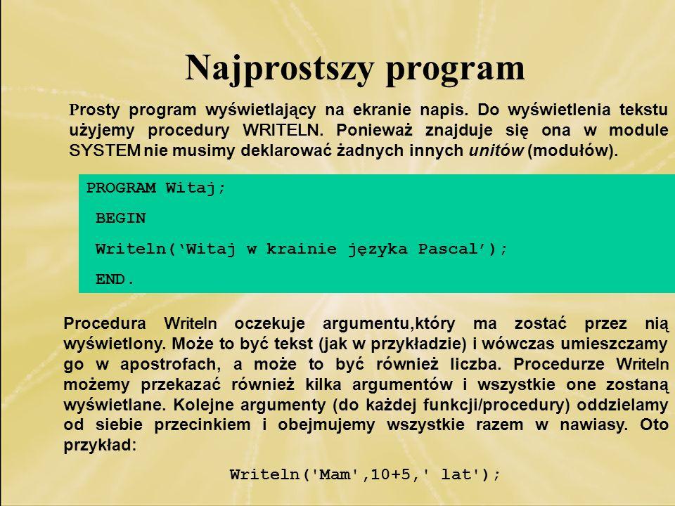 Najprostszy program