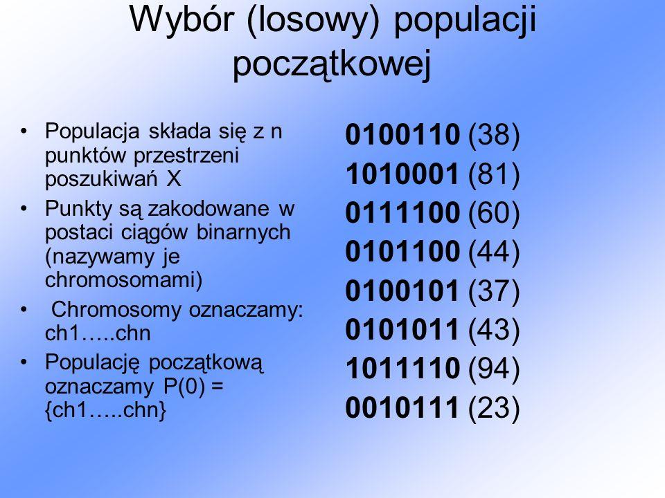Wybór (losowy) populacji początkowej