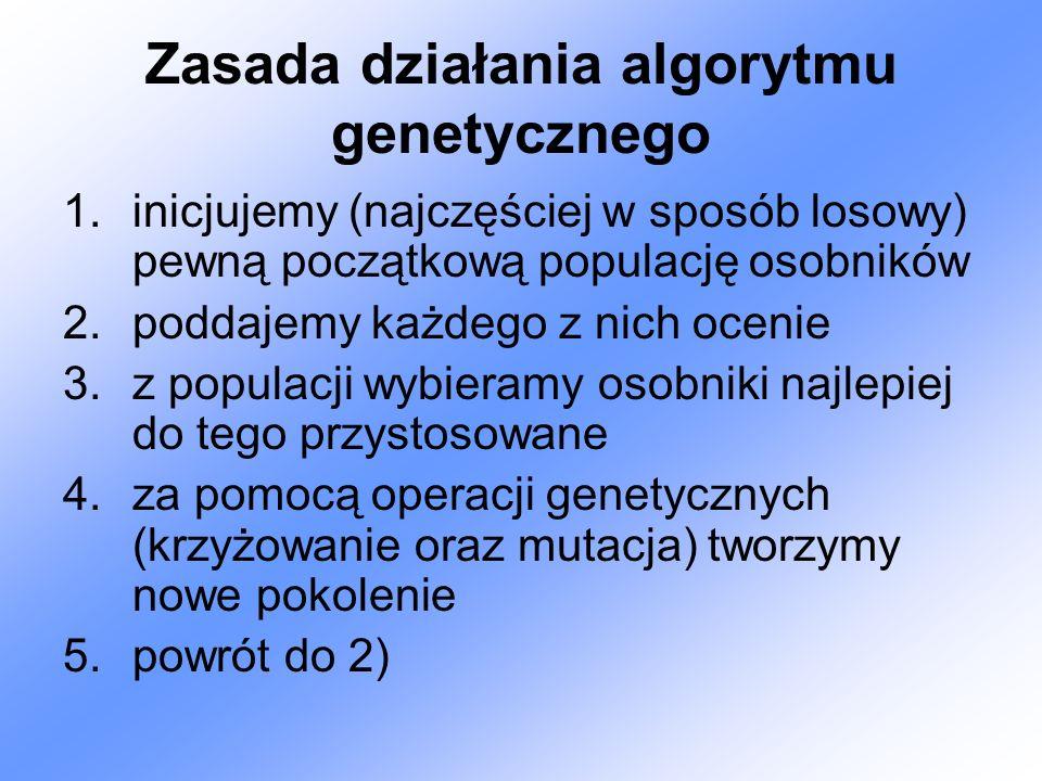 Zasada działania algorytmu genetycznego