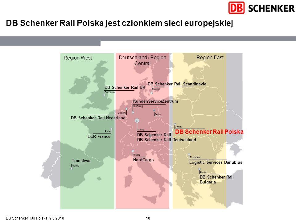 DB Schenker Rail Polska jest członkiem sieci europejskiej