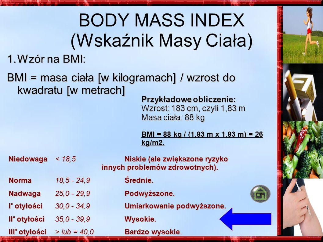 BODY MASS INDEX (Wskaźnik Masy Ciała)