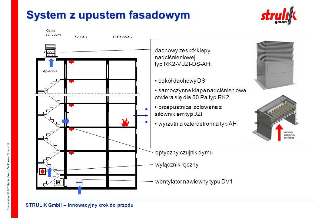 System z upustem fasadowym