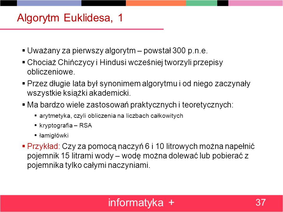 Algorytm Euklidesa, 1 informatyka +