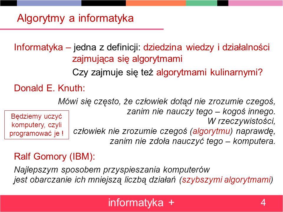 Algorytmy a informatyka