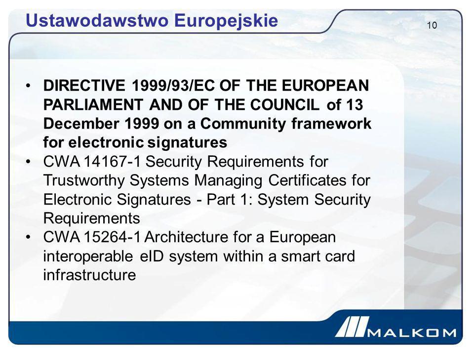 Ustawodawstwo Europejskie