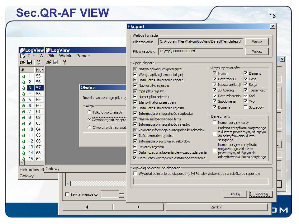 Sec.QR-AF VIEW