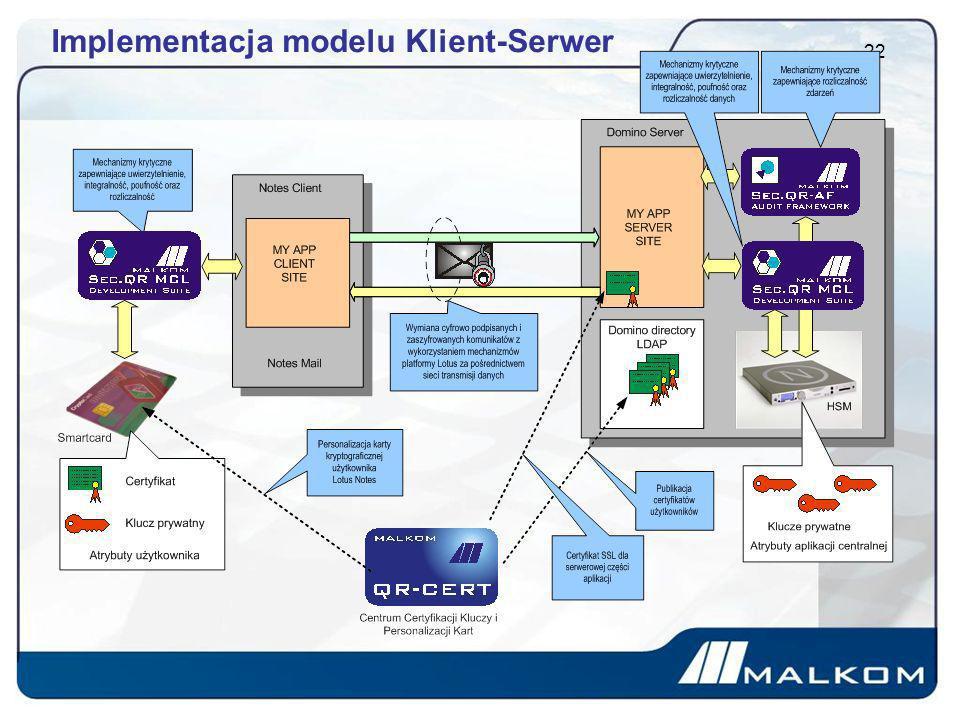 Implementacja modelu Klient-Serwer