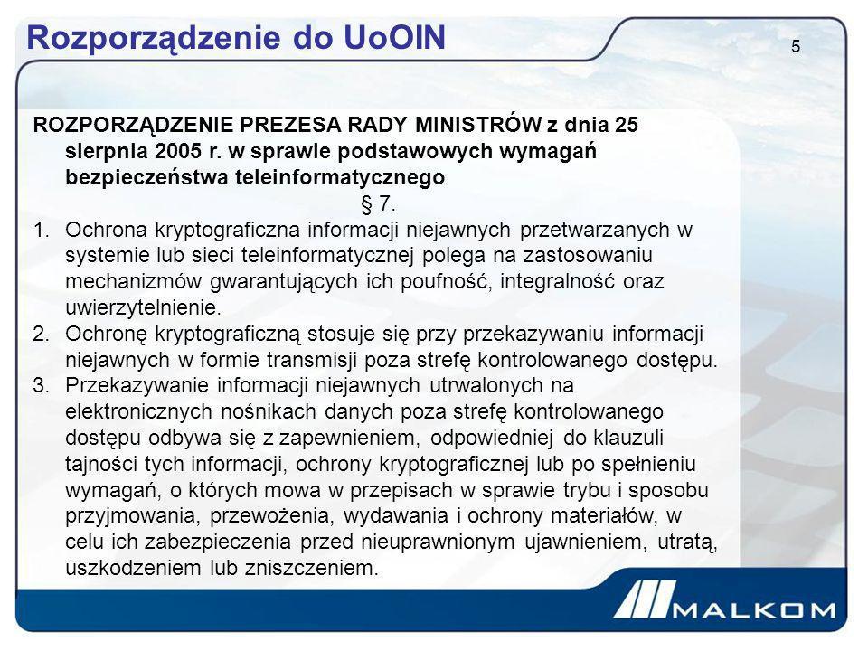 Rozporządzenie do UoOIN