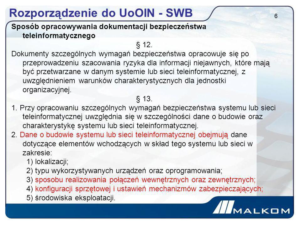 Rozporządzenie do UoOIN - SWB