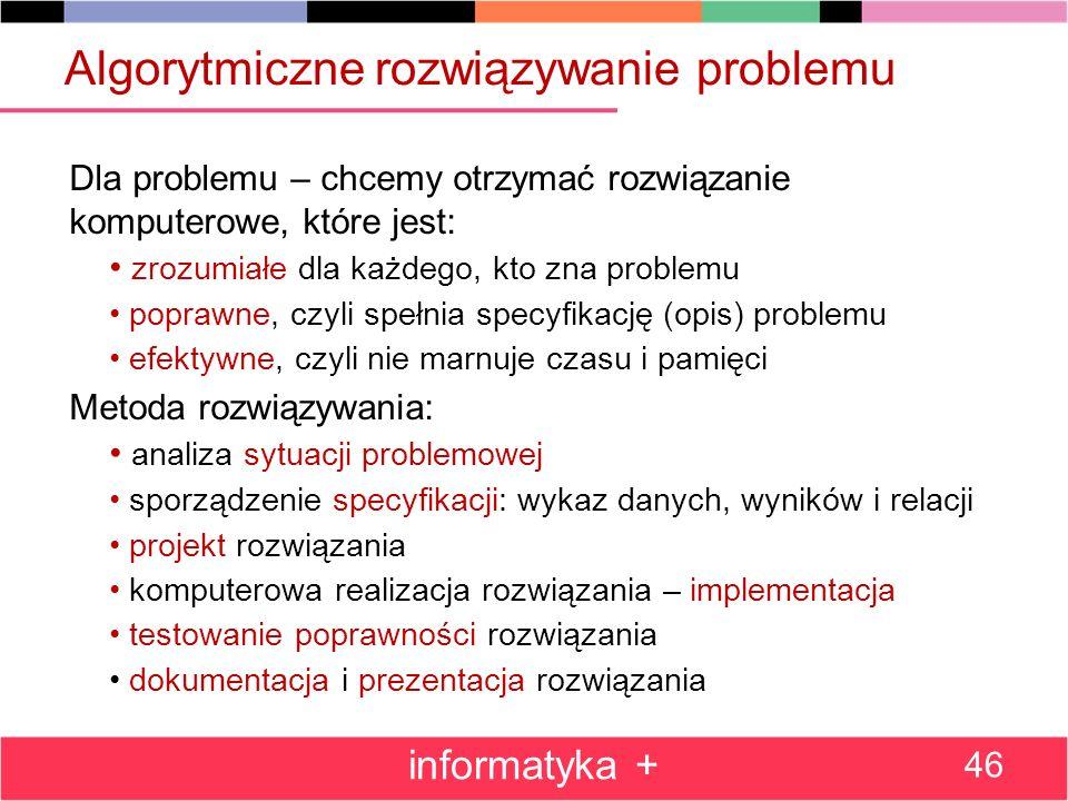 Algorytmiczne rozwiązywanie problemu