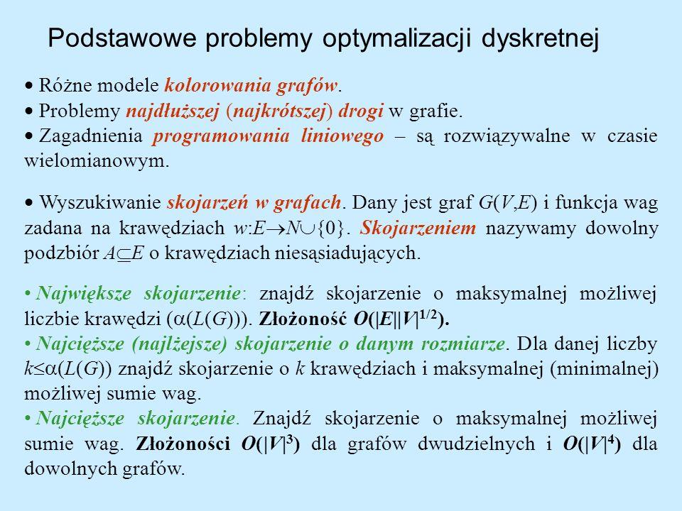 Podstawowe problemy optymalizacji dyskretnej