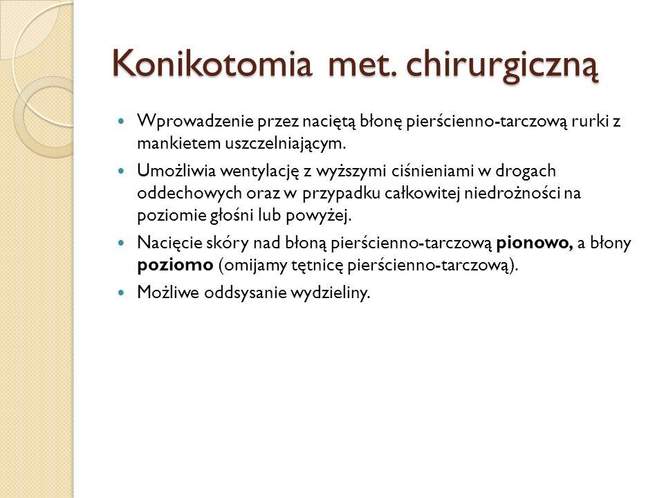 Konikotomia met. chirurgiczną