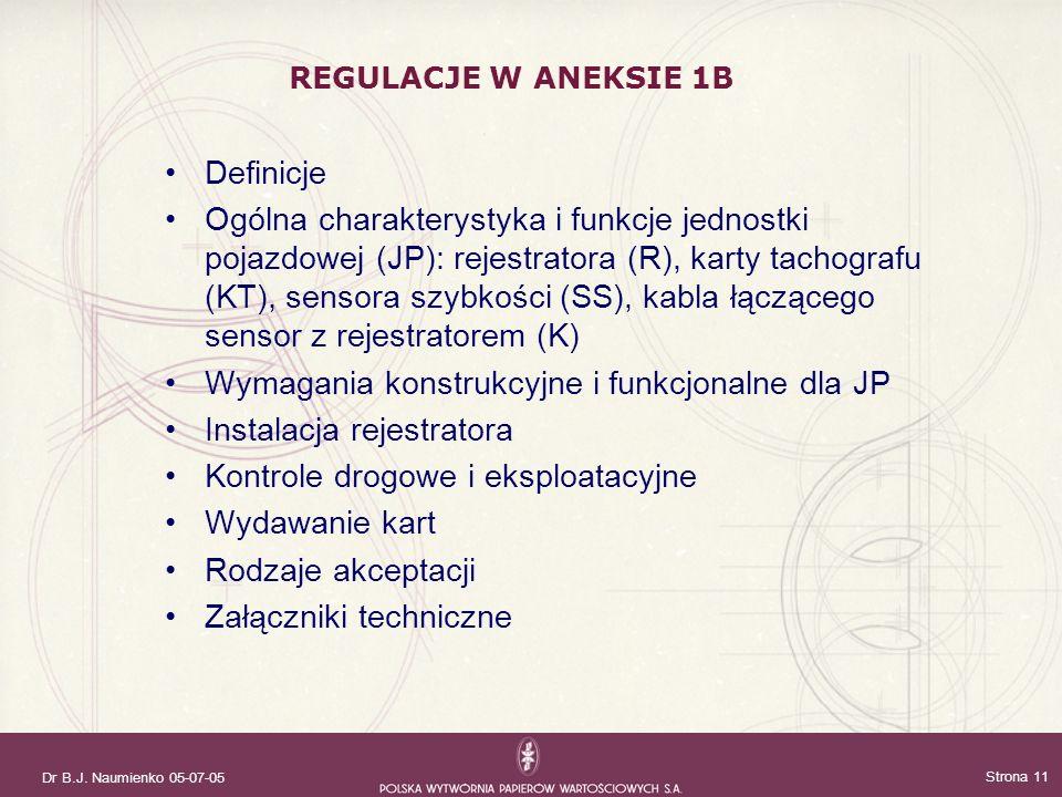 Wymagania konstrukcyjne i funkcjonalne dla JP Instalacja rejestratora