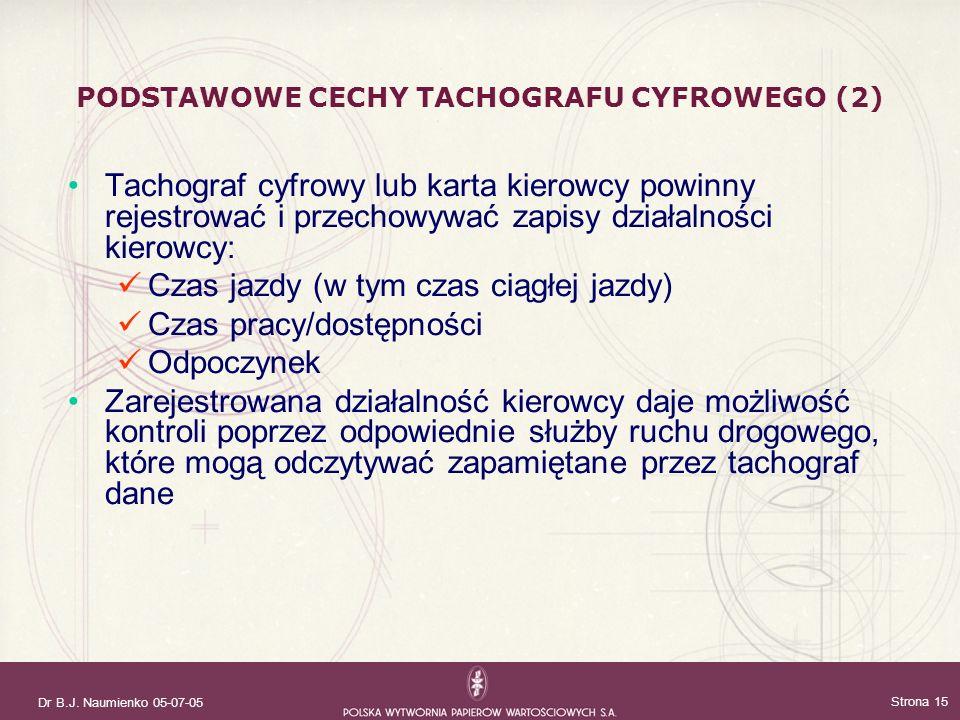 PODSTAWOWE CECHY TACHOGRAFU CYFROWEGO (2)