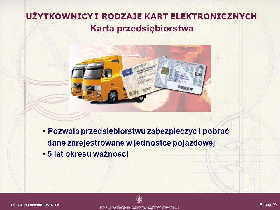 Karta przedsiębiorstwa