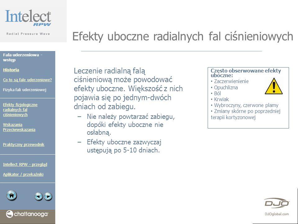 Efekty uboczne radialnych fal ciśnieniowych