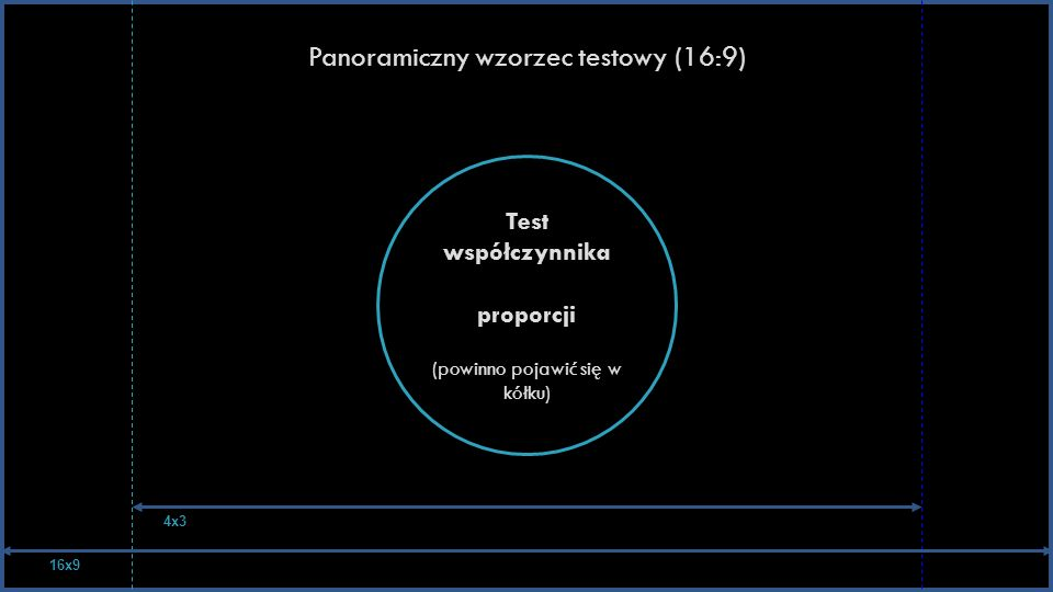 Panoramiczny wzorzec testowy (16:9)