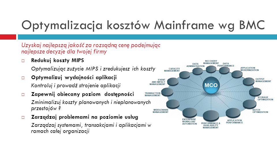 Optymalizacja kosztów Mainframe wg BMC