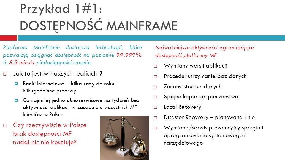 Przykład 1#1: DOSTĘPNOŚĆ MAINFRAME