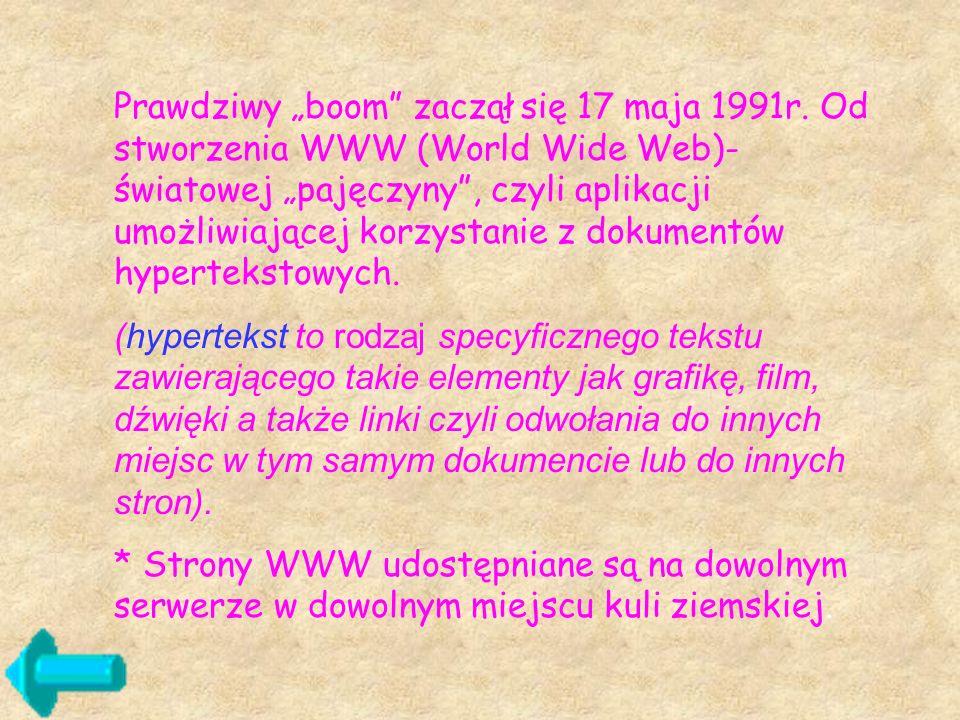 """Prawdziwy """"boom zaczął się 17 maja 1991r"""