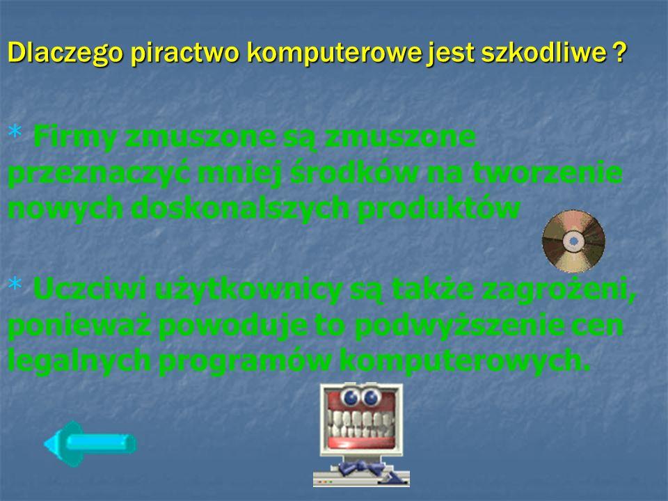 Dlaczego piractwo komputerowe jest szkodliwe