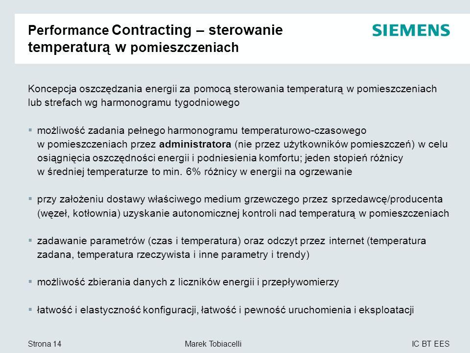 Performance Contracting – sterowanie temperaturą w pomieszczeniach