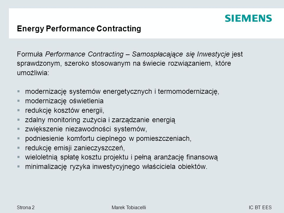 Energy Performance Contracting