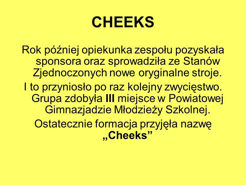"""Ostatecznie formacja przyjęła nazwę """"Cheeks"""