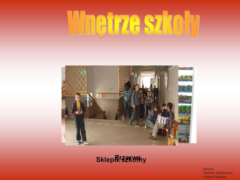 Wnętrze szkoły Przerwa Sklepik szkolny Autorzy: Norbert Staśkiewicz