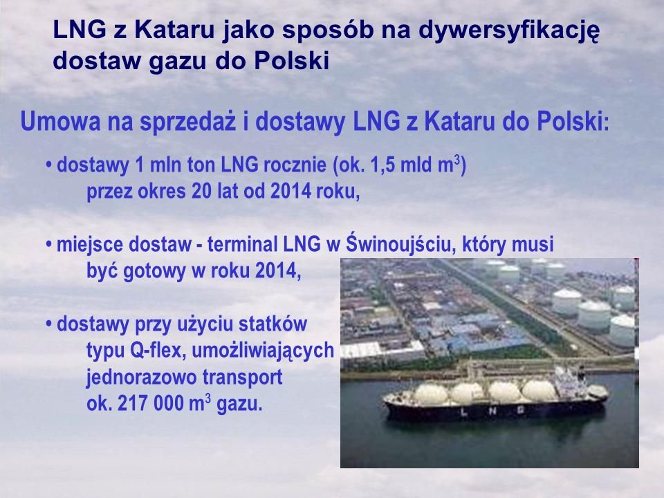 Umowa na sprzedaż i dostawy LNG z Kataru do Polski: