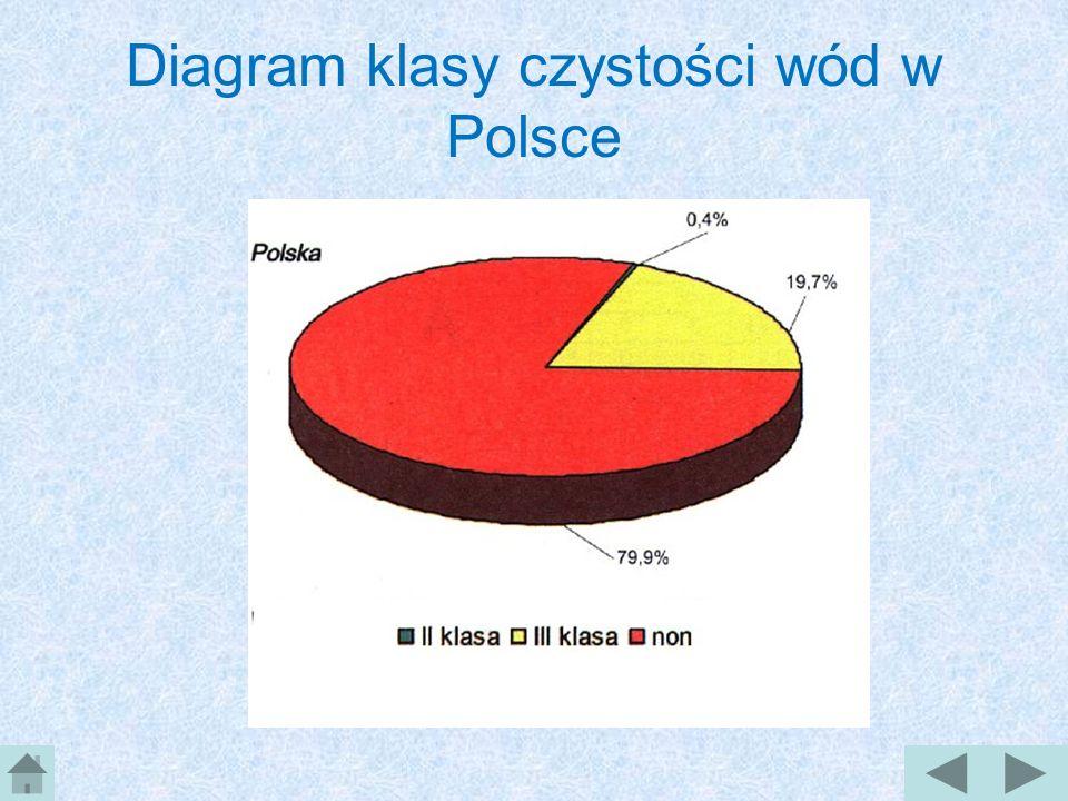 Diagram klasy czystości wód w Polsce