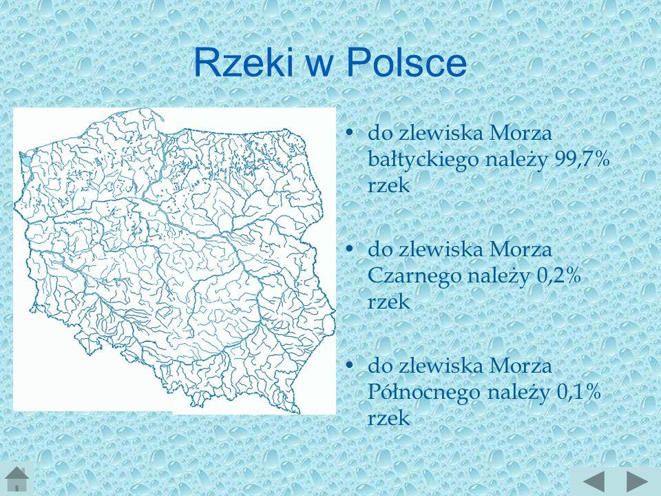 Rzeki w Polsce do zlewiska Morza bałtyckiego należy 99,7% rzek
