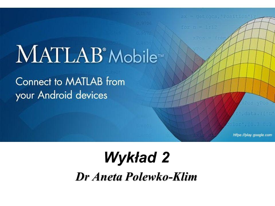 Wykład 2 Dr Aneta Polewko-Klim