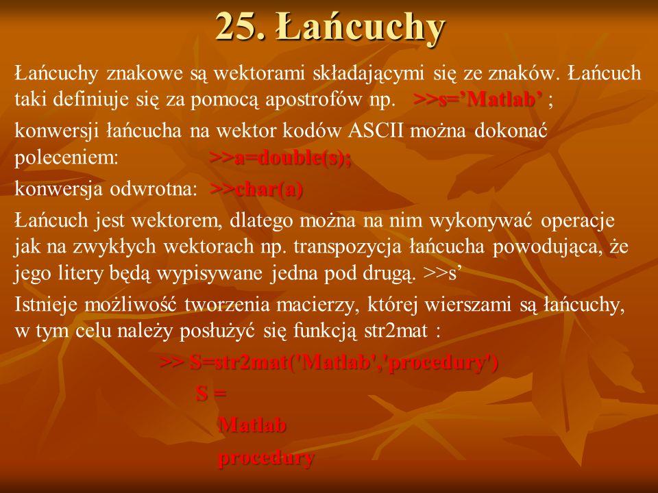 25. Łańcuchy