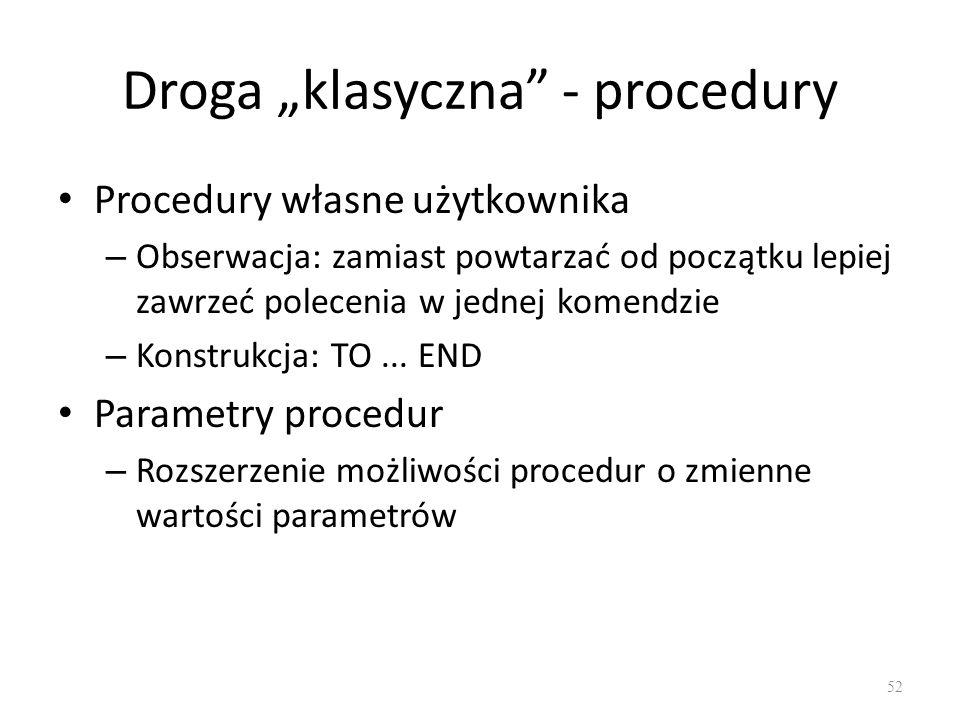 """Droga """"klasyczna - procedury"""
