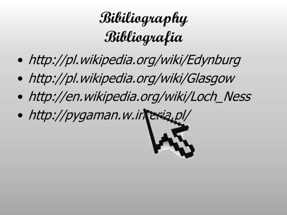 Bibiliography Bibliografia