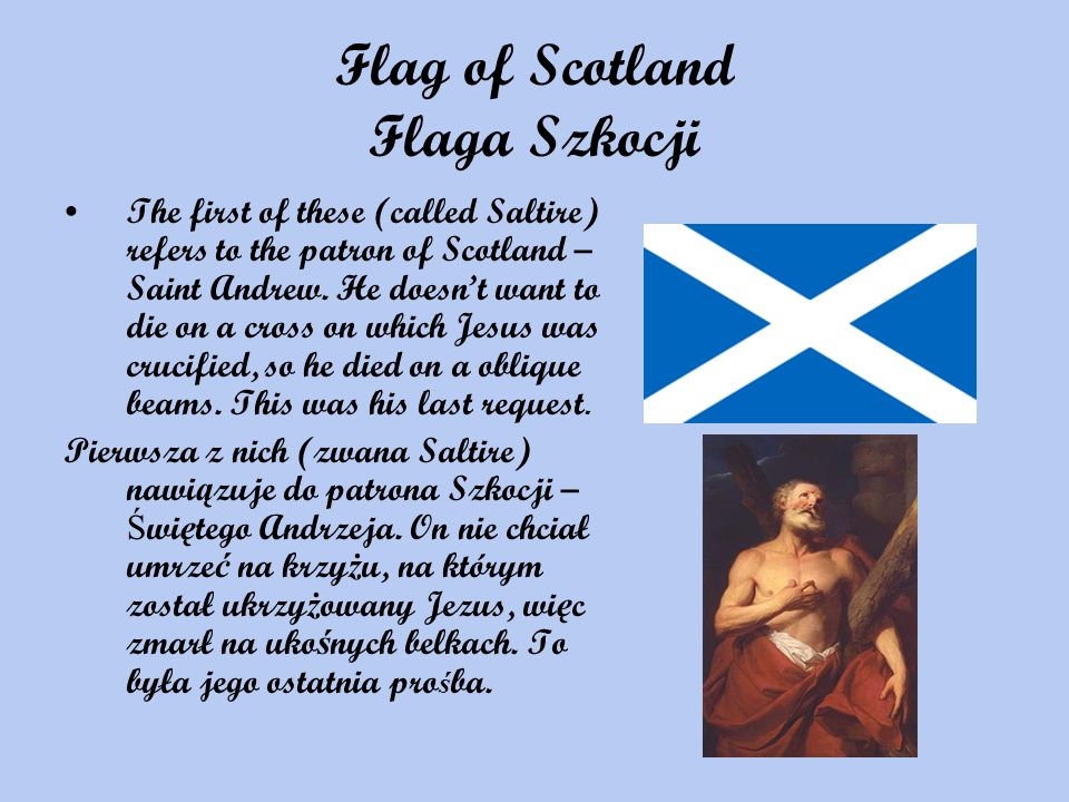 Flag of Scotland Flaga Szkocji