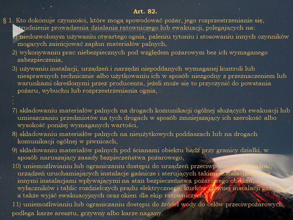 Art. 82. § 1.