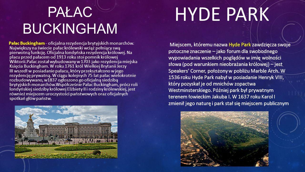 HYDE PARK PałAc Buckingham