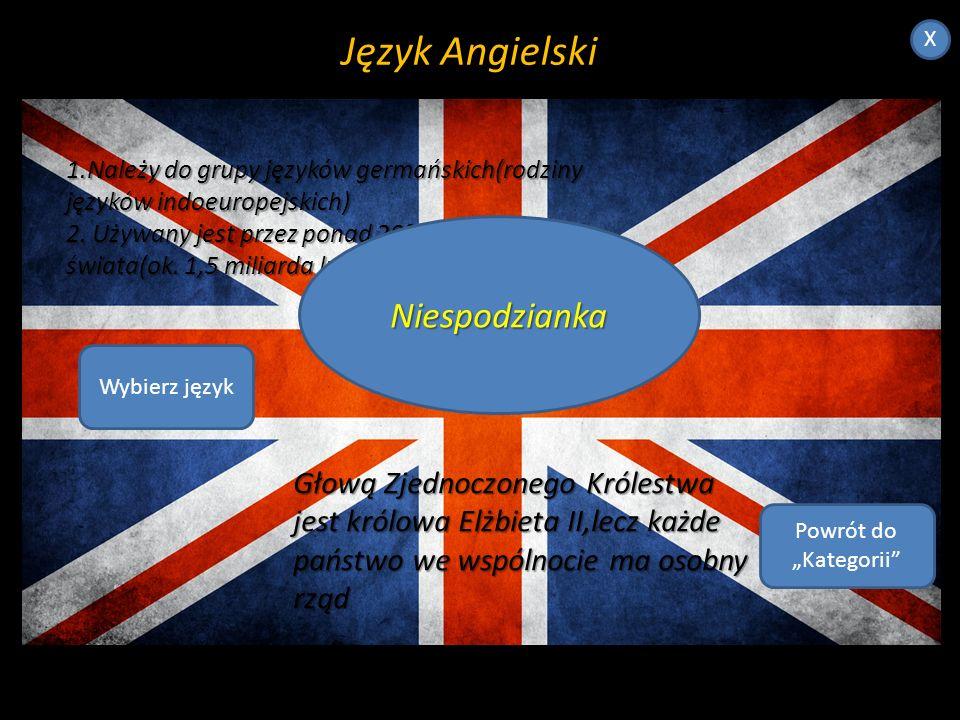 Język Angielski X.