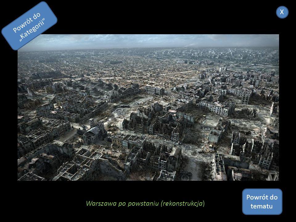 """X Powrót do """"Kategorii Powrót do tematu Warszawa po powstaniu (rekonstrukcja)"""