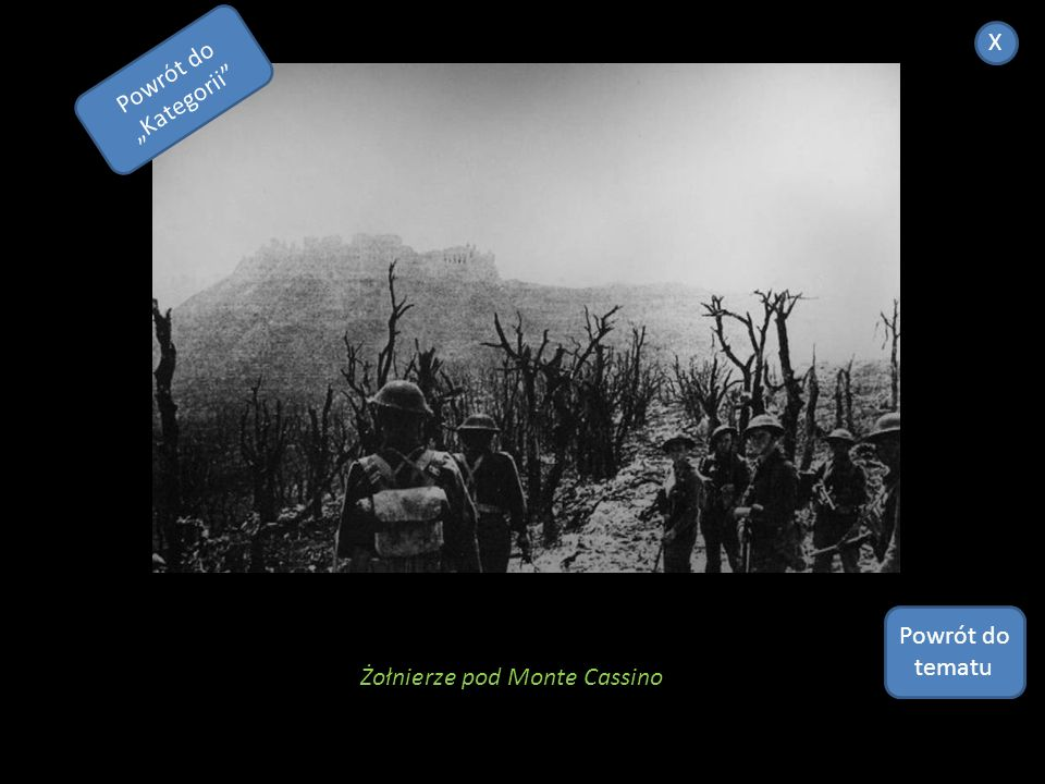 """X Powrót do """"Kategorii Powrót do tematu Żołnierze pod Monte Cassino"""