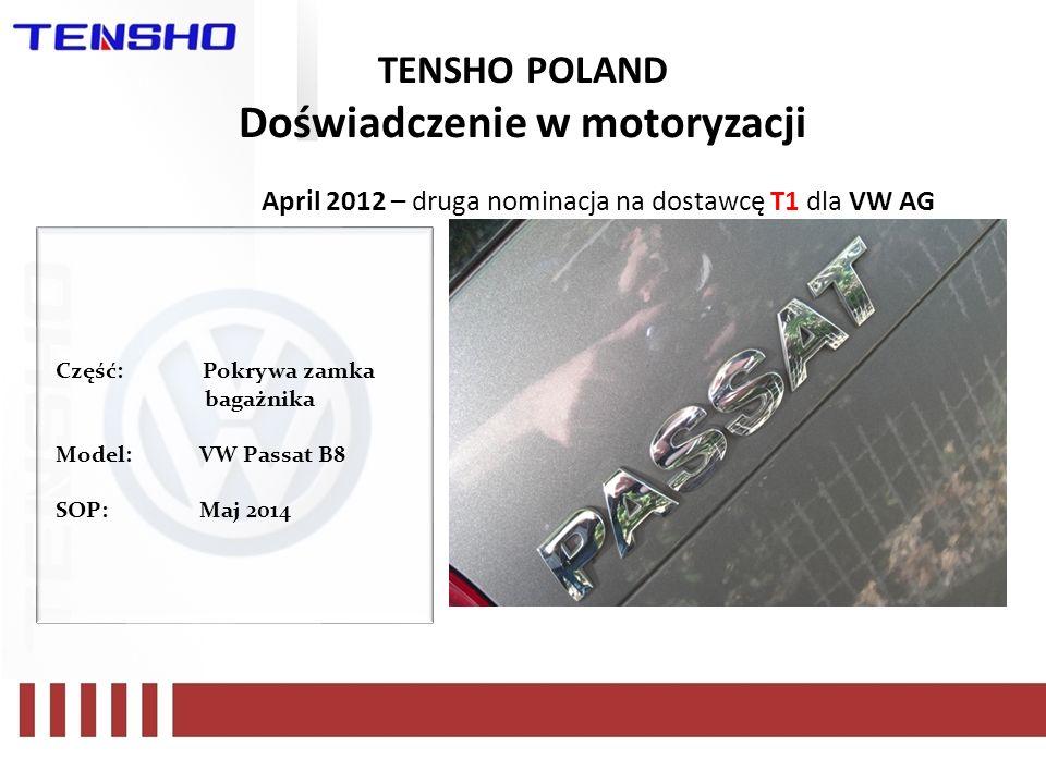 TENSHO POLAND Doświadczenie w motoryzacji