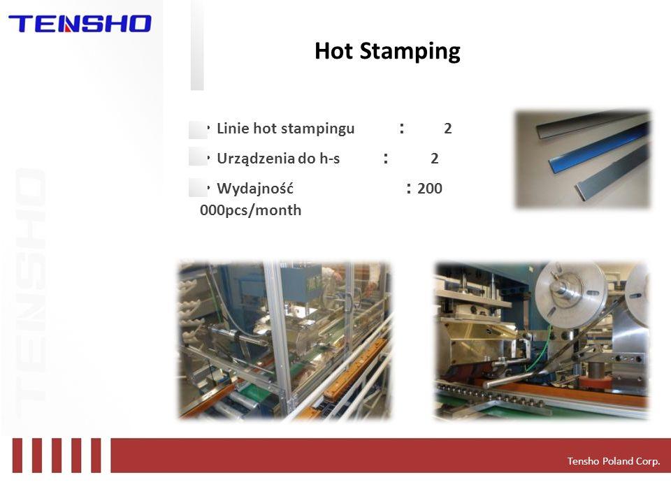 Hot Stamping ・Linie hot stampingu : 2 ・Urządzenia do h-s : 2