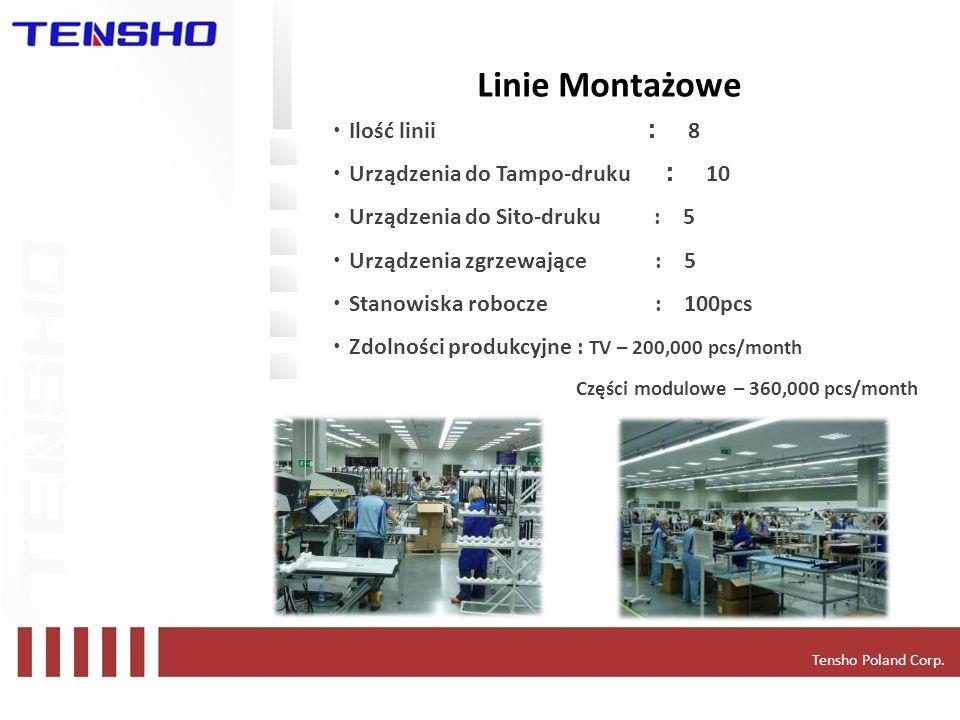 Linie Montażowe ・Ilość linii : 8 ・Urządzenia do Tampo-druku : 10